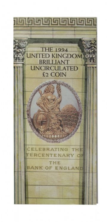 1994 Bank Of England £2 Brilliant Uncirculated pack